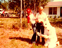 Rick, Tandy and Johnny Rabbit at the Archer Easter Party in 1977